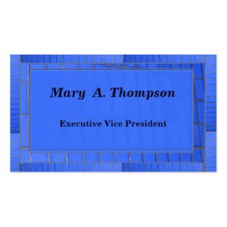 Conception bleue de brique carte de visite