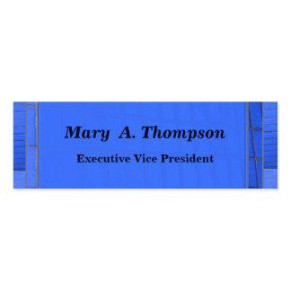 Conception bleue de brique carte de visite petit format