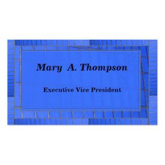 Conception bleue de brique carte de visite standard