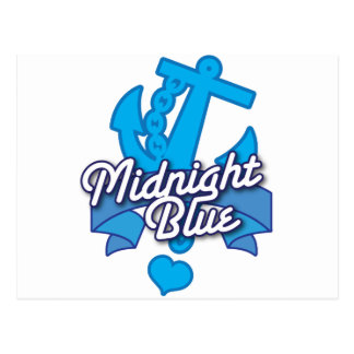 Conception bleue DE MINUIT de rockabilly de marine Carte Postale