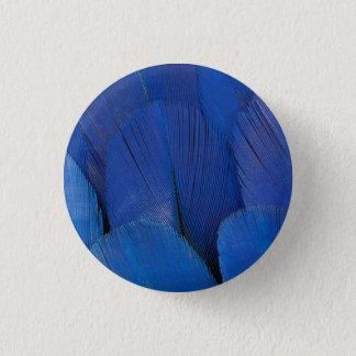 Conception bleue de plume d'ara de jacinthe badges