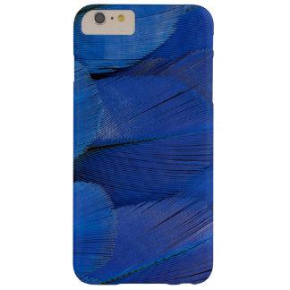 Conception bleue de plume d'ara de jacinthe coque barely there iPhone 6 plus