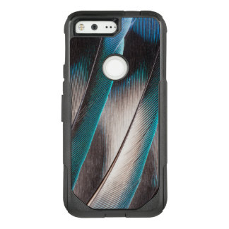 Conception bleue de plume d'inséparable coque google pixel par OtterBox commuter