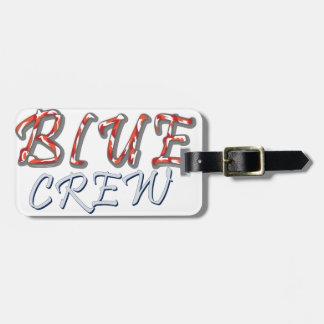 Conception bleue d'équipage étiquette à bagage