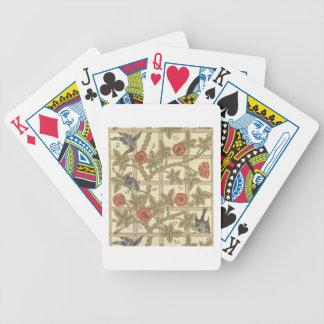 Conception bleue et orange de papier peint de trei jeux de cartes