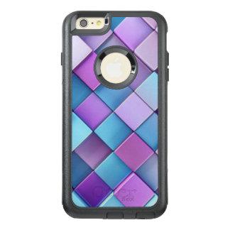Conception bleue pourpre d'impression de motif de coque OtterBox iPhone 6 et 6s plus
