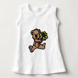 Conception Brown d'ours de marguerite Robe Sans Manche