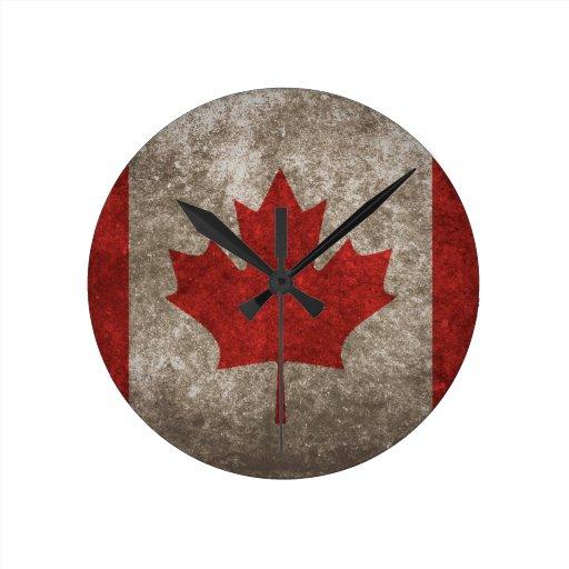 Conception canadienne impressionnante de drapeau horloges murales