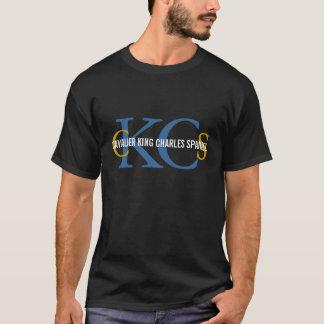 Conception cavalière de monogramme d'épagneul du t-shirt