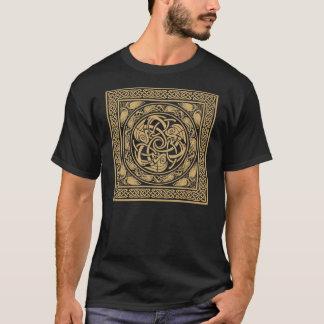 Conception celtique de carré d'oiseaux t-shirt