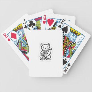 Conception chanceuse 2 de chemise de chat jeux de cartes