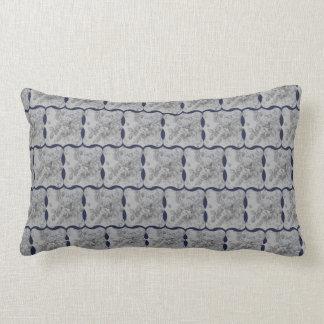 Conception chic de pays bleu et gris coussin décoratif