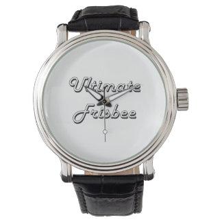 Conception classique de frisbee final rétro montres bracelet