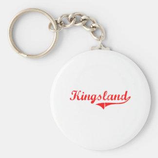 Conception classique de Kingsland la Géorgie Porte-clé Rond