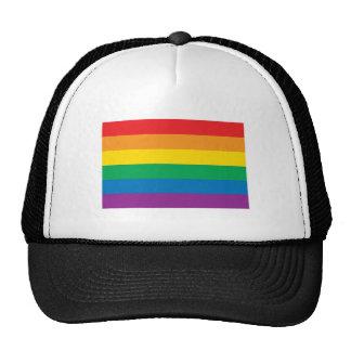 Conception colorée d'arc-en-ciel de la fierté   casquettes