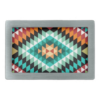 Conception colorée de motif africain boucle de ceinture rectangulaire