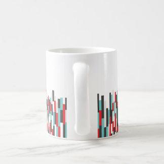 Conception colorée de rayures de solides solubles mug