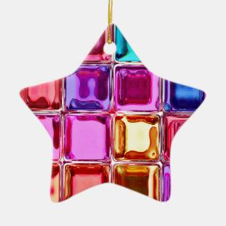 Conception colorée en verre de tuiles ornement étoile en céramique