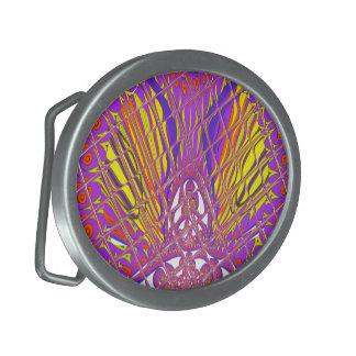 Conception colorée extraordinaire de motif de boucle de ceinture ovale