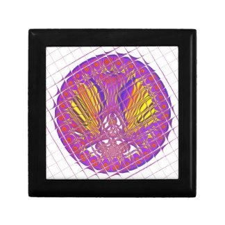 Conception colorée extraordinaire de motif de petite boîte à bijoux carrée