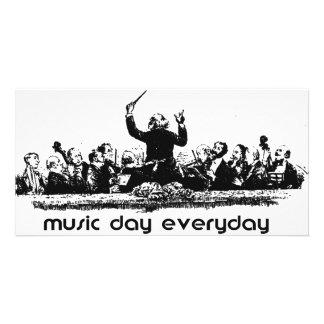 Conception d orchestre pour le jour de musique cartes de vœux avec photo