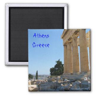Conception d'aimant d'Athènes Grèce Magnet Carré