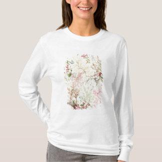 Conception d'algue pour le matériel en soie (la t-shirt