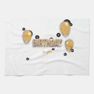 conception d'anniversaire de ballon linge de cuisine