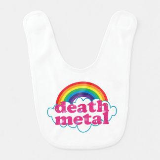 Conception d'arc-en-ciel en métal de la mort bavoir de bébé