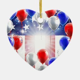 Conception d'arrière - plan de ballons de drapeau ornement cœur en céramique