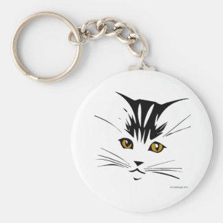 Conception d'art de chat porte-clé rond