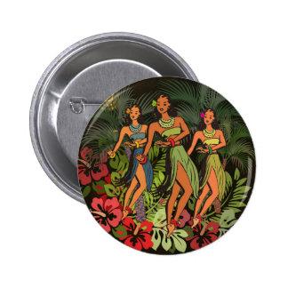 Conception d'art de danse polynésienne de paume badge