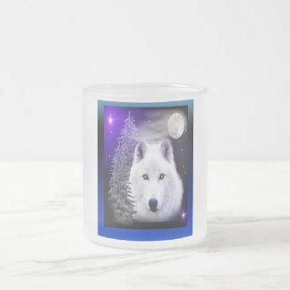 conception d'art de loup tasse à café