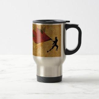 "Conception d'art de rue ""de rage créative"" mug de voyage"