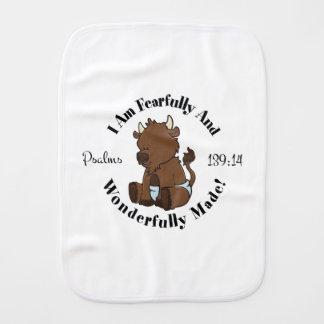 Conception de 139:14 de psaumes (bison) linges de bébé