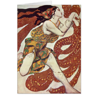 Conception de Bakst-Costume de Léon pour une Carte De Vœux