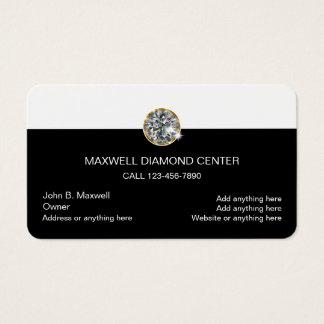 Conception de bijoutier de diamant cartes de visite