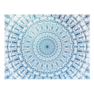 Conception de Bohème de fractale de bleu de ciel Carte Postale