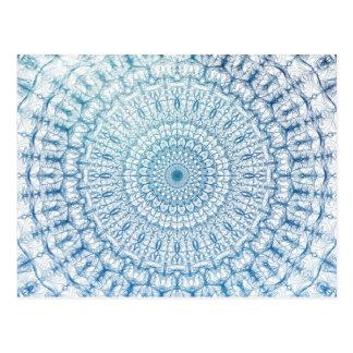 Conception de Bohème de fractale de bleu de ciel Cartes Postales