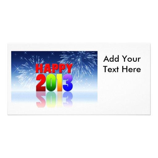 Conception de bonne année cartes de vœux avec photo