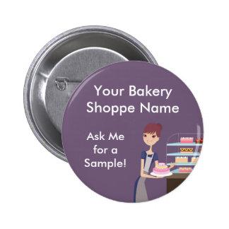 Conception de boulangerie/magasin de pâtisserie 4 badge rond 5 cm
