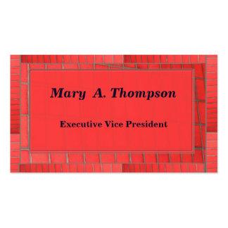 Conception de brique rouge carte de visite standard