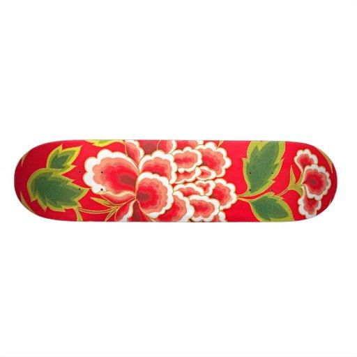Conception de broderie de chinois traditionnel skateboards personnalisés