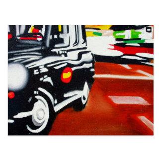 conception de cabine de noir de taxi de Londres Cartes Postales