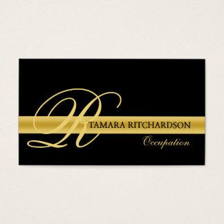 Conception de carte de visite de luxe élégante