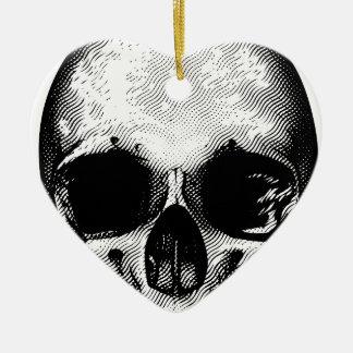 Conception de crâne ornement cœur en céramique