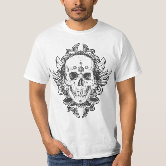 Conception de crâne t-shirt