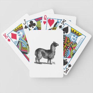 Conception de croquis de lama cartes à jouer