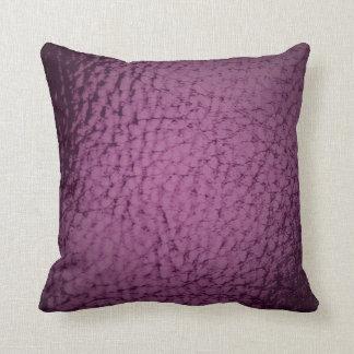 Conception de cuir de Faux de couleur de raisin Coussins Carrés