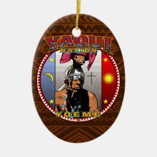 Conception de danseur de cerfs communs de Yaqui Ornement Ovale En Céramique